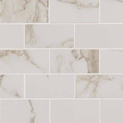 Pietra Calacatta Polished 2x4 Mosaic (NPIECAL2X4P)