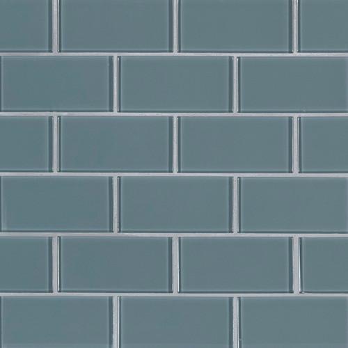 Harbor Gray Subway Tile 2x4 Mosaic (SMOT-GLSST-HAGR8MM)