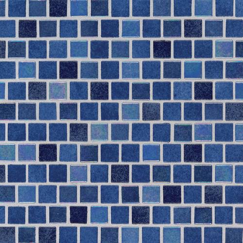 Hawaiian Blue 1x1 Staggered Mosaic (SMOT-GLSB-HAWBLU4MM)