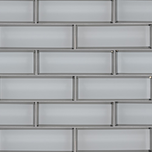 Ice Bevel Subway Tile 2x6 Mosaic (SMOT-GLSST-ICEBE8MM)