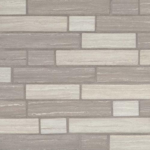 Silva Oak Interlocking Mosaic (SMOT-GLSIL-SILVA6MM)