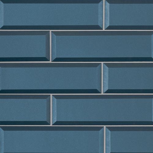 Tahiti Blue Beveled 2.5x8 (SMOT-GL-T-TAHBLU2.5X8)