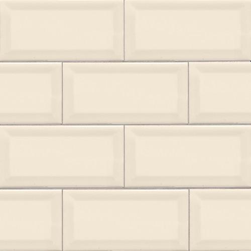 Domino Almond Glossy Beveled Subway Tile 3x6 (NALMGLO3X6BEV)