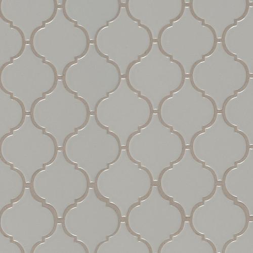 Domino Gray Glossy Arabesque Mosaic (NGRAARAG)