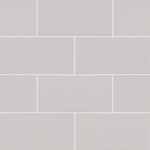 Domino Gray Glossy Subway Tile 3x6 (NGRAGLO3X6)