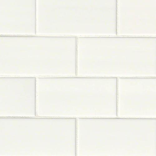 Domino White Subway Tile 3x6 (NWHIGLO3X6)