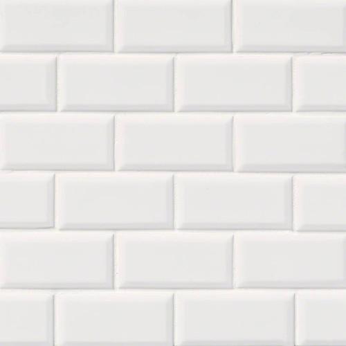 Domino White Glossy 2x4 Mosaic (NWHI2X4G)