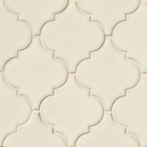 Highland Park Antique White Arabesque Mosaic (SMOT-PT-AW-ARABESQ)