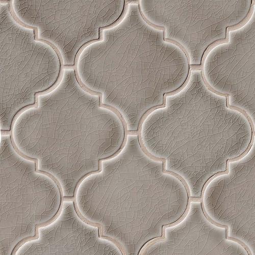 Highland Park Dove Gray Arabesque Mosaic (SMOT-PT-DG-ARABESQ)
