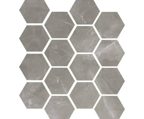 "Luxury Amani Grey 3"" Hexagon Mosaic on 9x11 Sheet (1099584)"