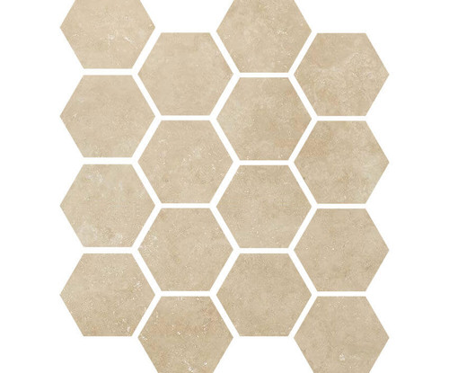 "Luxury Marfil 3"" Hexagon Mosaic on 9x11 Sheet (1099585)"