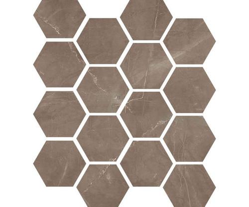 "Luxury Amani Bronze 3"" Hexagon Polished Mosaic on 9x11 Sheet (1099590)"