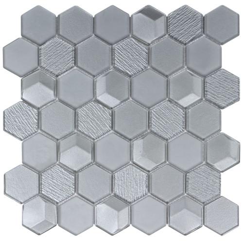 """Monet Magic Foggy 2"""" Hexagon Mosaic (ANTHMMFH)"""