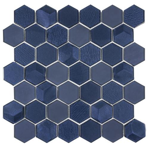 "Monet Magic Marina 2"" Hexagon Mosaic (ANTHMMMH)"