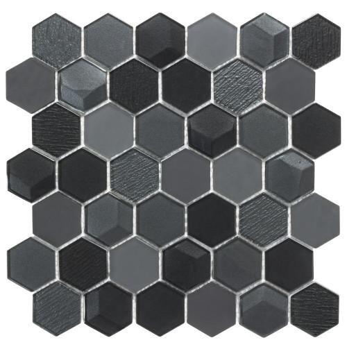 "Monet Magic Smokey 2"" Hexagon Mosaic (ANTHMMSH)"