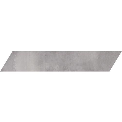 Metal Max 2.0 Medium Grey Porcelain Left Chevron 4x24 (HMM10602F-CHL)