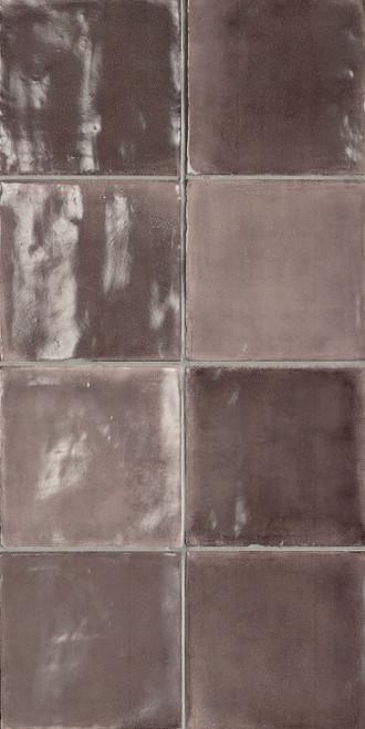 Tsquare Pink Powder Glossy Ceramic 6x6 Wall Tile (GSWTTTSW04G)