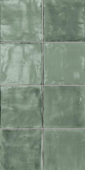 Tsquare Mint Tea Glossy Ceramic 6x6 Wall Tile (GSWTTTSW06G)