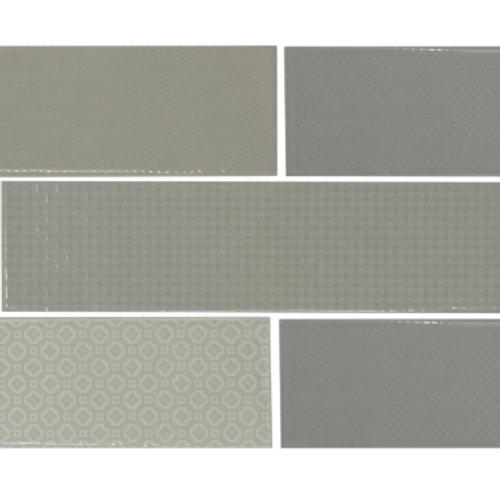 Caress Greige Ceramic Mixed Decos 3x12 (DC1024DECO)