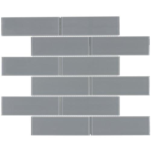 Seasons Wind Glass Mosaic 2x6 on 12x14 Sheet (ANTHSEWI26)