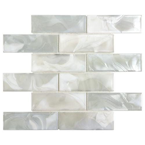 Mystic Glass Cosmic Brick Mosaic 2x6 on 12x12 Sheet (ANTHMGCO)