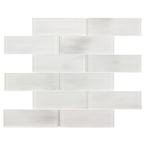 Mystic Glass Tradewind Mix Brick Mosaic 2x6 on 12x12 Sheet (ANTHMGTM)