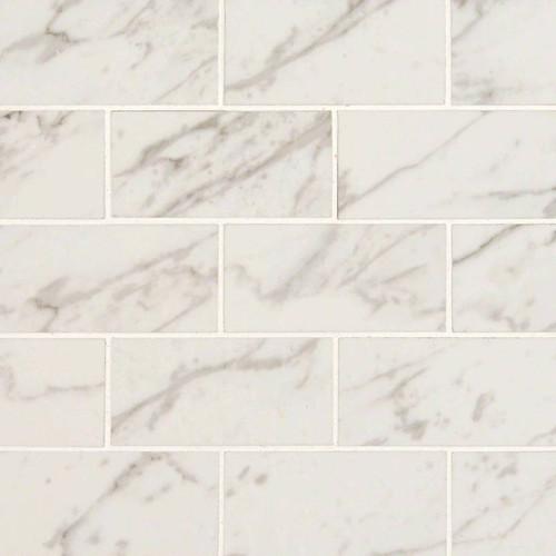 Pietra Carrara Polished 2x4 Mosaic (NPIECAR2X4P)