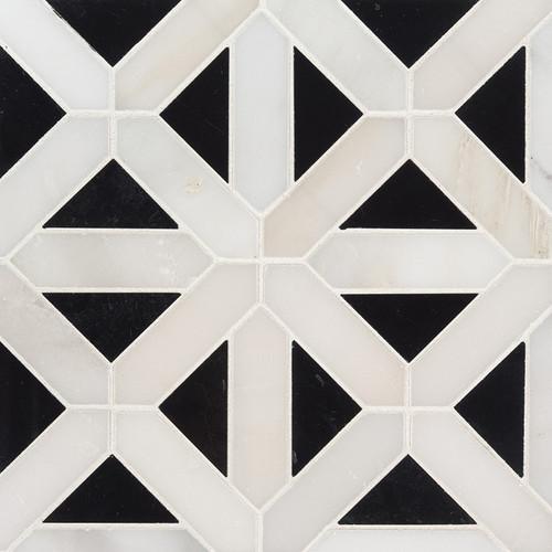 Retro Polished Fretwork Mosaic (SMOT-RETFRET-POL10MM)