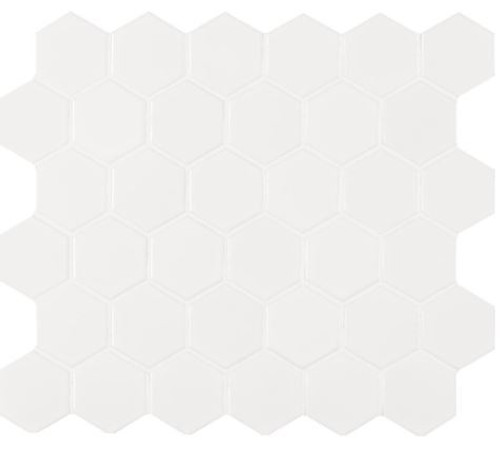 Retro Bianco Matte Hexo Mosaic (SMOT-PT-RETBIA-2HEX)