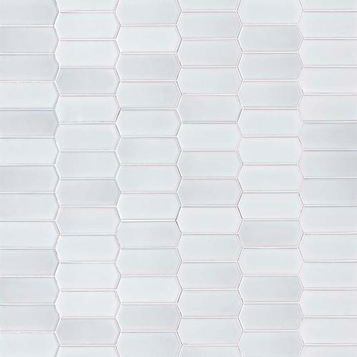 Retro Bianco Glossy Picket Mosaic (SMOT-PT-RETBIA-PKT)