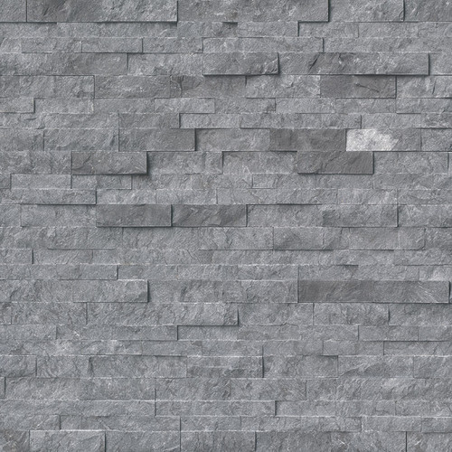 Ledger Panel Glacial Grey Marble Splitface Panel 6x24 (LPNLMGLAGRY624)