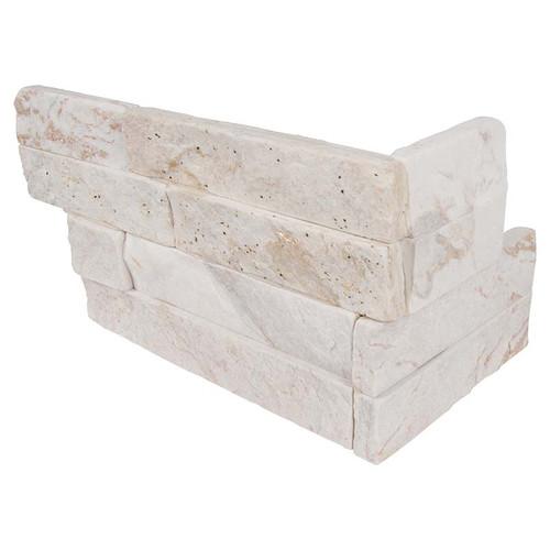 """Ledger Panel Royal White Splitface """"L"""" Corner 6x12x6 (LPNLQROYWHI618COR)"""