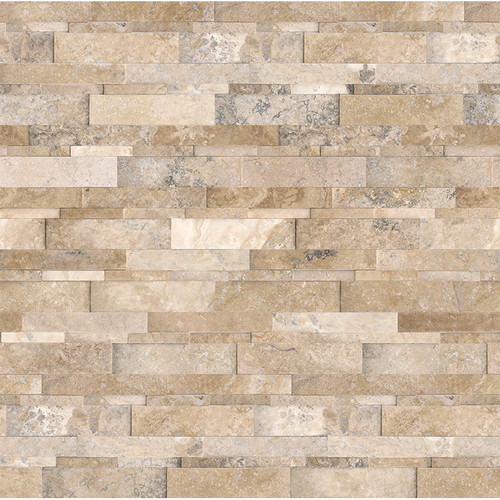 Ledger Panel Picasso Travertine Honed Cubic Wall Panels 6x24 (73-361)