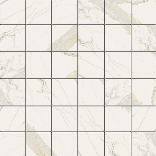 Marmorea Bianco Calacatta Matte Mosaic 2x2 (FIBC22)
