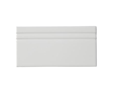 Riviera Lido White Base Board 4x8 (Glazed Top Edge) (ADRLI809)