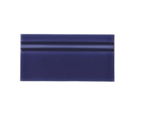 Riviera Santorini Blue Base Board 4x8 (Glazed Top Edge) (ADRSA809)