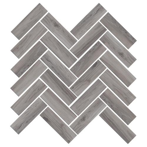 Mood Wood Grey Herringbone Mosaic (1100832)