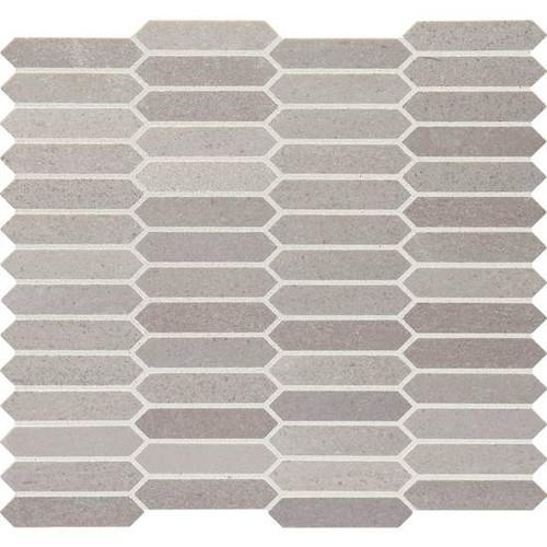 Candora Demure Gray Polished Marble Linear Hex Mosaic (M053LINHEXMS1L)