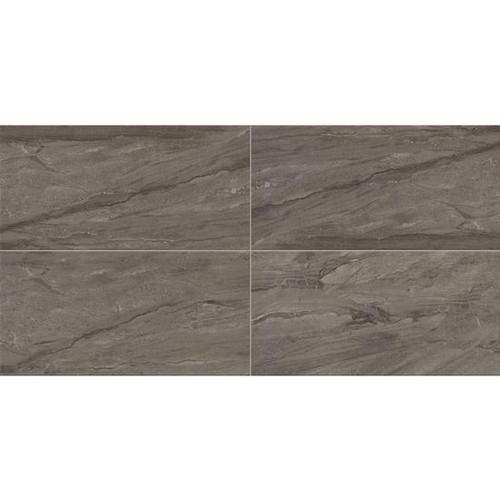 Impresa Charcoal Ceramic Floor Tile 12x24 (IM1012241PV)