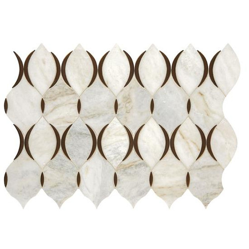 Presario Lumen White Polished Modern Lantern Mosaic (DE52MODLANTMS1L)