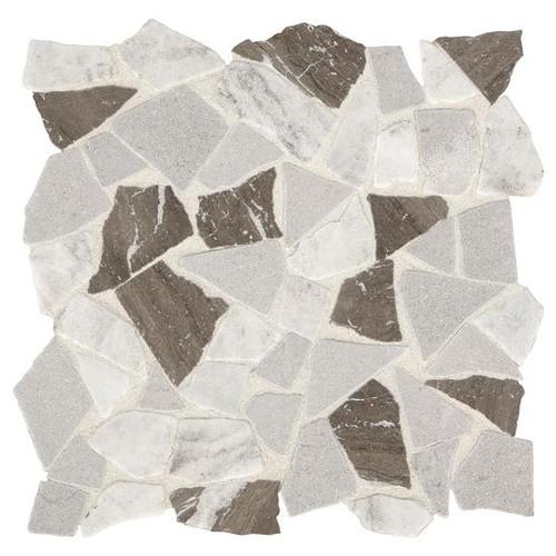 Presario Reverent Taupe Tumbled Pebble Mosaic (DE54RIVRPEBMS1P)