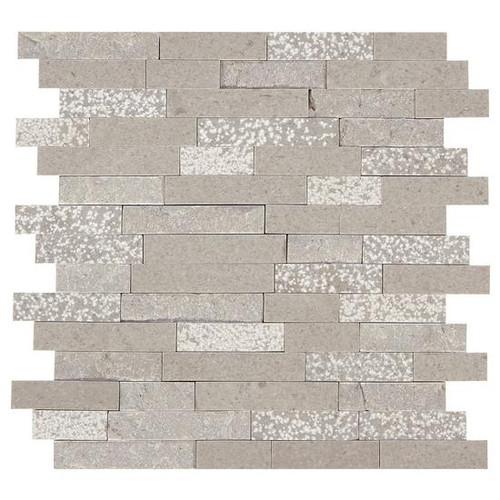 Presario Meta Silver Mixed Random Linear Mosaic (M023LNRANMS1P)