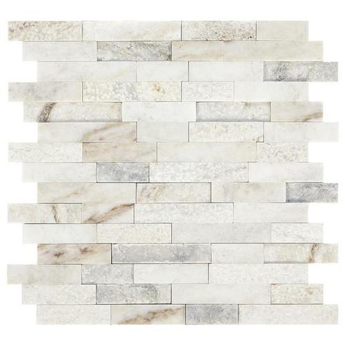 Presario Lumen White Mixed Random Linear Mosaic (M024LNRANMS1P)