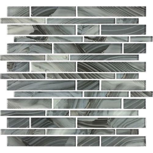 Refluence Waterfall Glass Linear Mosaic 12x12 (RE09RANDMS1P)