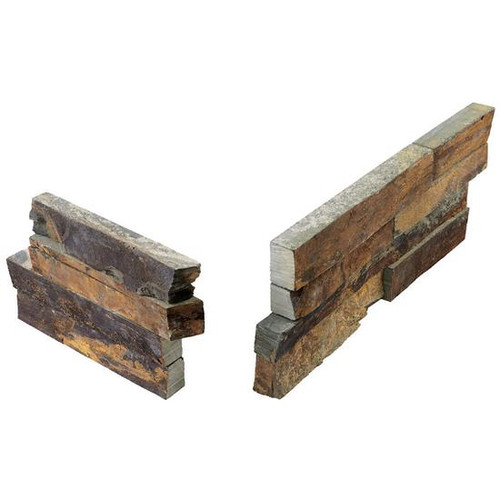 Stacked Stone Tibetan Slate Panel Corner 6x24 (S317624CORNER1T)