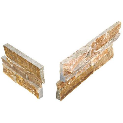Stacked Stone Shanghai Rust Panel Corner 6x24 (S349624CORNER1T)