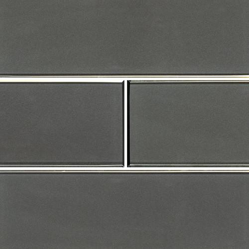Metallic Gray Beveled Subway Tile 4x12 (SMOT-GL-T-MEGRBE412)
