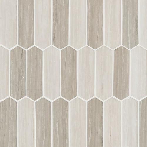 Silva Oak Picket Mosaic (SMOT-GLSPK-SILVA6MM)