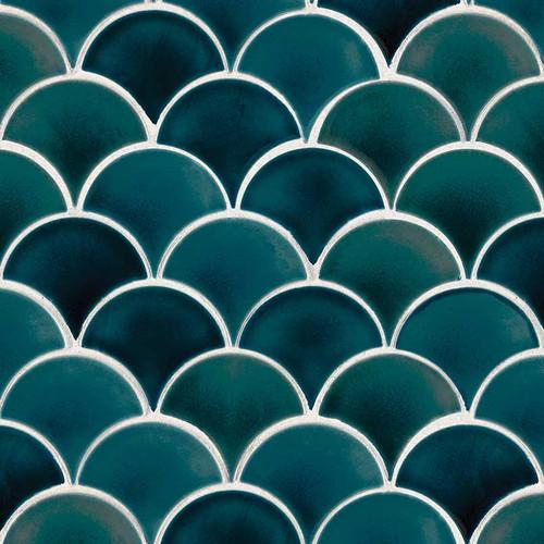 Azul Scallop Mosaic (SMOT-PT-AZULSCAL8MM)
