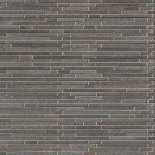 Basalt Blue Bamboo Pattern Mosaic (SMOT-BSLTB-BMP10MM)